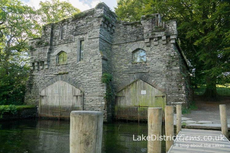 Wray Castle's double boathouse and jetty on Windermere