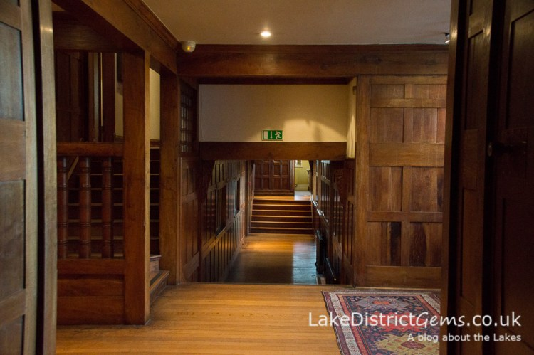 The upstairs corridor at Blackwell