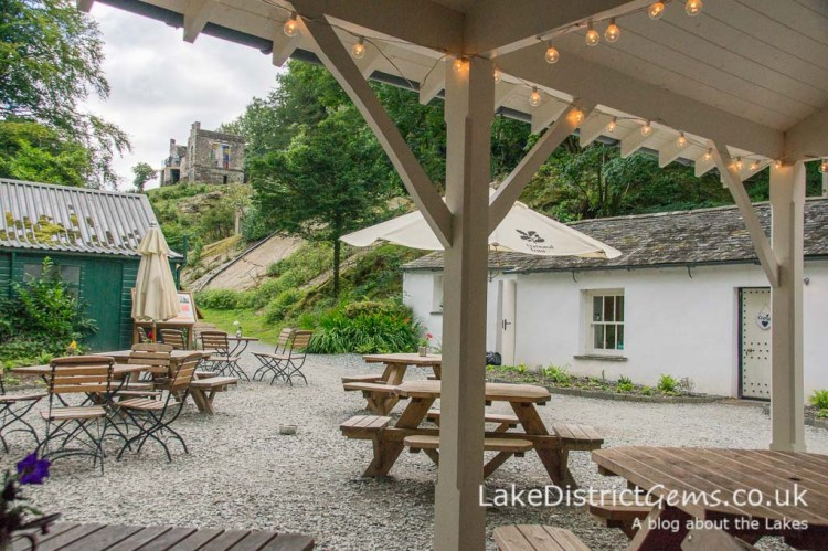 The Café in the Courtyard at Claife Viewing Station