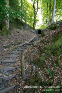 The tunnel in the grounds at Allan Bank, Grasmere