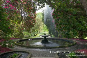 The gardens at Holker Hall in spring