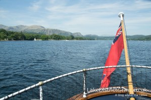 Scenery on Coniston Water from the National Trust's Steam Yacht Gondola