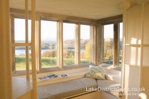 The view over Windermere from the White Drawing Room