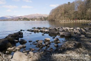 Looking north along Windermere from Millerground