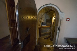 The spiral staircase at the end of your visit to Sizergh Castle