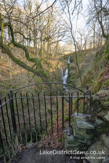 A viewing area for Stockghyll Force