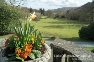Rydal Hall in spring