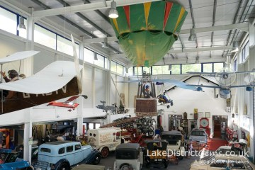 View from the balcony at the Lakeland Motor Museum