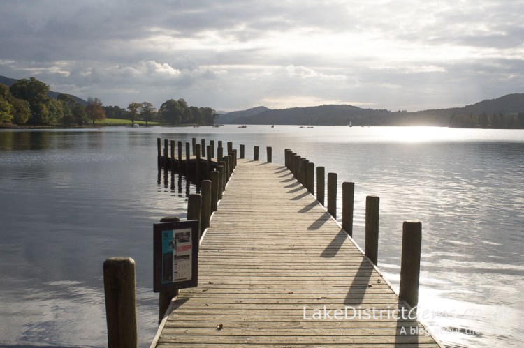 Monk Coniston jetty overlooking Coniston Water