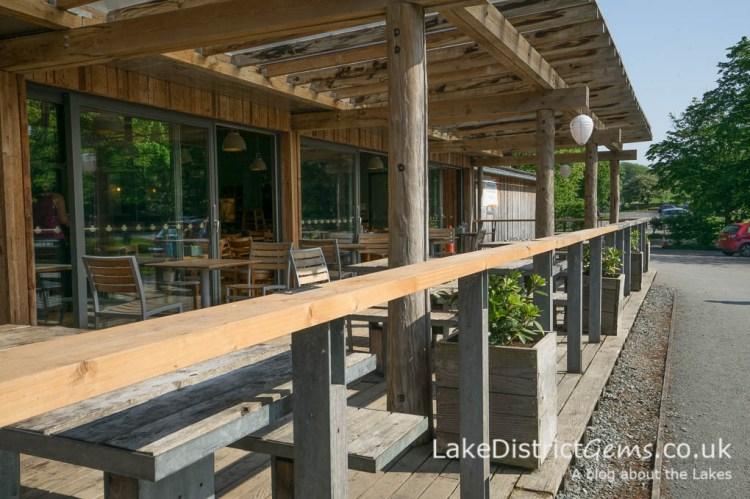 The café and veranda at Sizergh