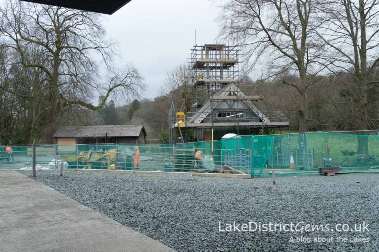 The old fire station at Windermere Jetty and model boating pond