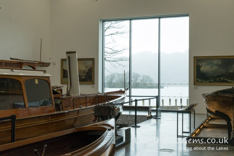 View of the lake from Windermere Jetty's Exhibition Gallery.