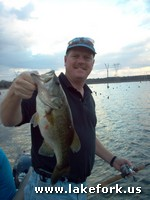 Larry with Lake Fork guide Jason Hoffman