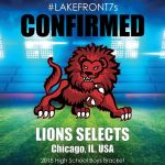 2018 Lions Selects, Chicago, Il, USA