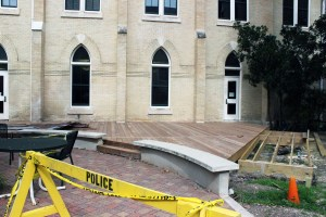 San Antonio Pro Decks is overseeing the construction of a new deck in St. Ann's Courtyard. The completion date for the deck has not been set.
