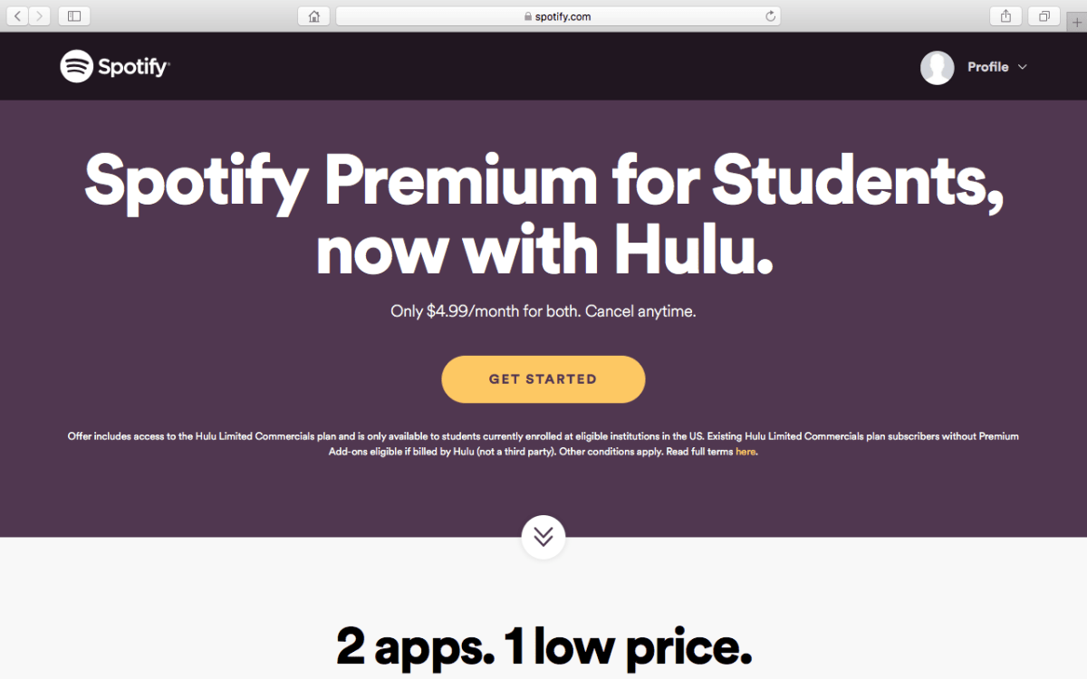 Student Discount On Spotify And Hulu