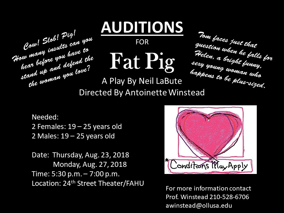 Auditions For The Play, Fat Pig