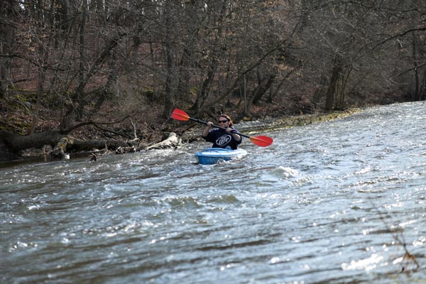 Running the rapids on White River in Spring of 2013