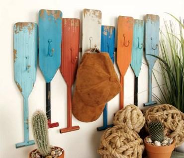 canoe paddle wall decor, paddle wall art, paddle and hook towel rack, lake house towel rack, hang towels lake house, lake house wall art