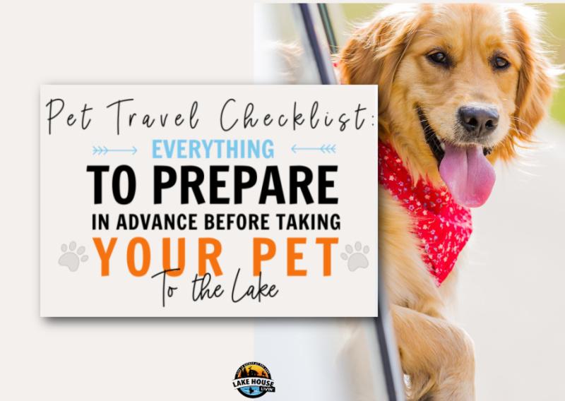 Pet Travel Checklist