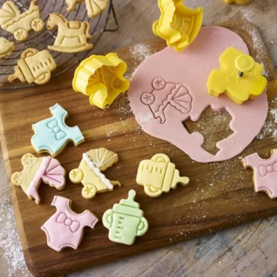 4 Baby Shower Cookie Cutters Lakeland