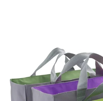 2 In 1 Reusable Trolley Tote Set For Large Or Shallow Trolleys