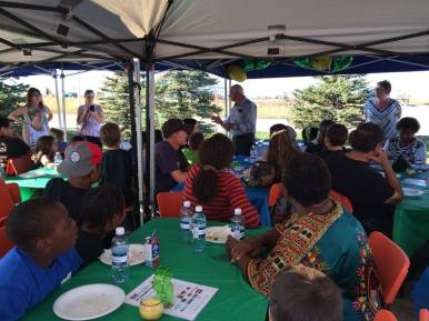 Deputy Mayor Ray Prevost (Bonnyville) addressing Biz Kid$