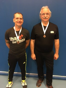 Norm Kowalchuck and Bill Yuill Bronze in mens doubles skill level 3.0