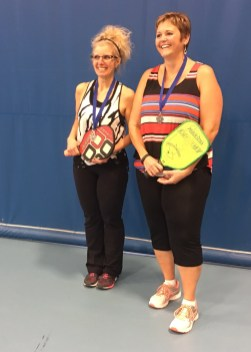 Bea Yuill and Anita Germain Silver in womens doubles 3.0 skill level