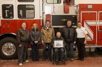 Left to Right: Councillor Dwight Wiebe, CAO Holly Habiak, Mayor Glenn Andersen, Councillor Ken Kwaitkowski, Councillor Norm Noel and Director of Emergency Services Trevor Kotowich. Photo Credit:A Wink & A Smile Photography