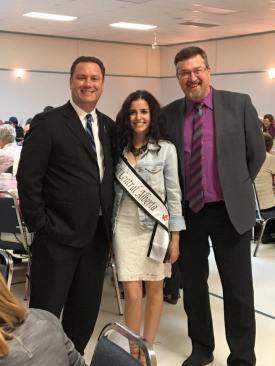 Riwa with MLA Scott Cyr and Mayor of Bonnyville Gene Sobolewski