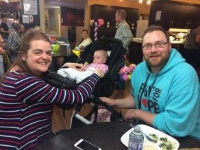 Enjoying a Mother's Day lunch at RMHCNA.