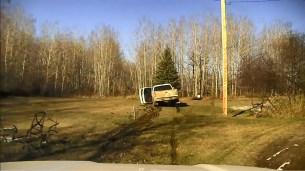 Stolen truck after fleeing on foot
