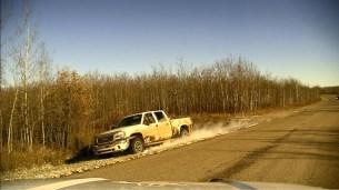 Stolen truck fleeing