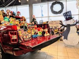 Ducharme Motors matches donations made at the dealership, bringing in 2 truck loads of toys.