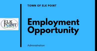 Employment Opportunity: Town of Elk Point – Public Works Operator