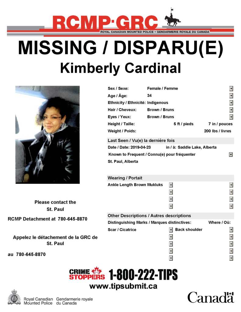 MISSING: 34 year old Kimberly Cardinal - Lakeland Connect
