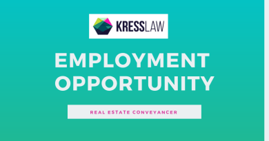 Employment Opportunity: Kress Law – Real Estate Conveyancer