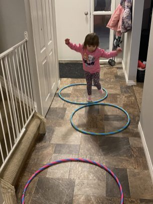 Jumping from hoop to hoop.