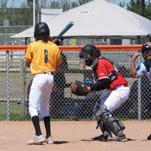 Zach Lapointe catching strike 3