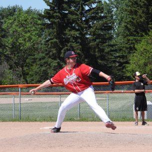 "Chris ""CJ"" Kolikov pitching"