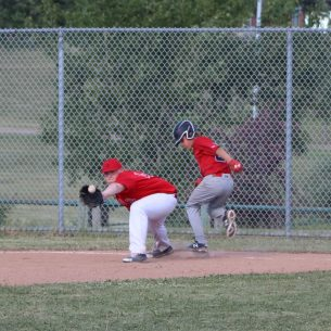 Kaelem Straughan beating the throw to first