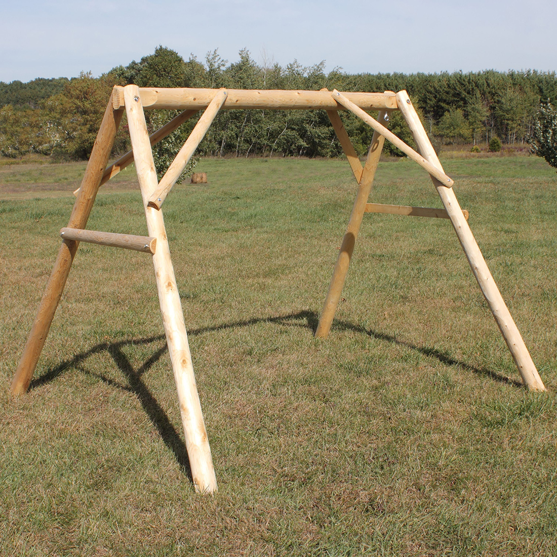rustic cedar log a frame swing mount lakeland mills