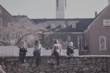 Behind the boys school house