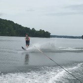 Sims learned how to slalom ski