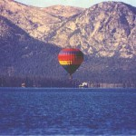 hot air balloon launching in Tahoe
