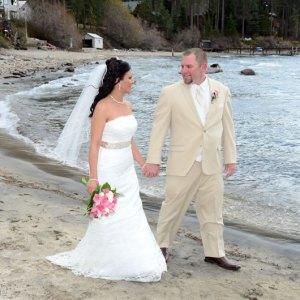 Couple on Rocky Beach
