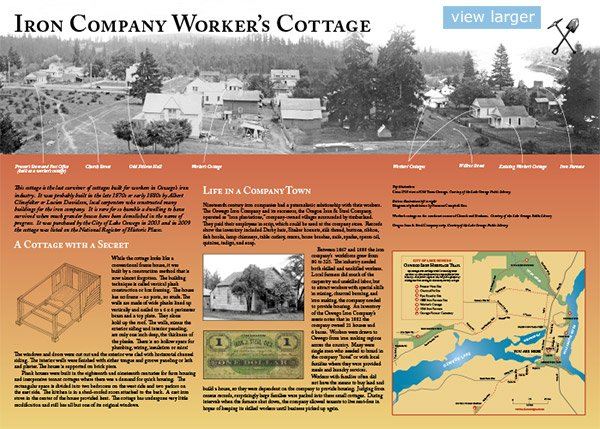 Iron Company Worker's Cottage panel