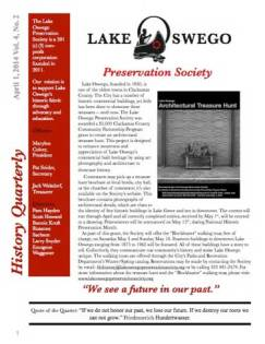 Lake Oswego News Vol 4, No.2