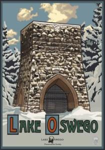 Lake Oswego Winter Poster